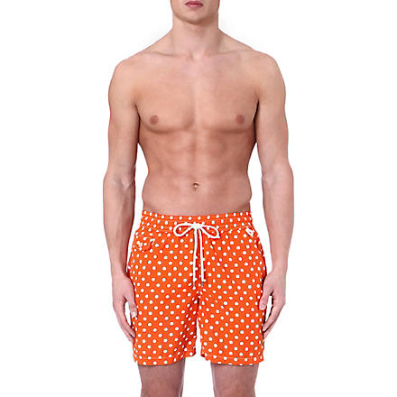 RALPH LAUREN Hawaiian polka-dot swim shorts (Orange