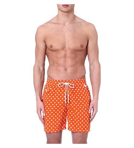 RALPH LAUREN Hawaiian polka-dot swim shorts (Orange