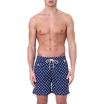 RALPH LAUREN Hawaiian polka-dot swim shorts (Blue
