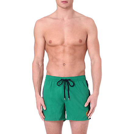 RALPH LAUREN Side stripe swim shorts (Green