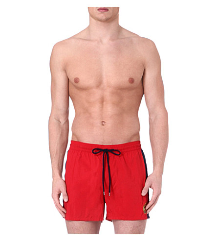 RALPH LAUREN Side stripe swim shorts (Red