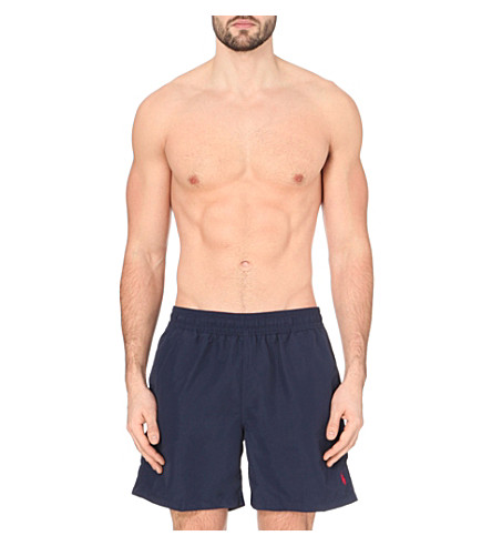 POLO RALPH LAUREN Hawaiian swim shorts (Navy