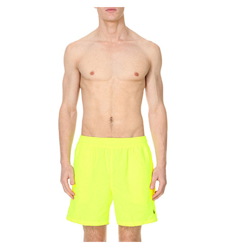 POLO RALPH LAUREN Hawaiian swim shorts (Safety+yellow