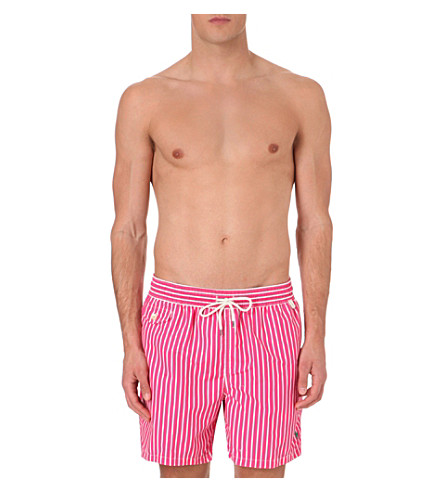 POLO RALPH LAUREN Traveller striped swim shorts (Dark+pink