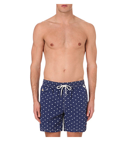 POLO RALPH LAUREN Traveller polka dot-printed swim shorts (Navy