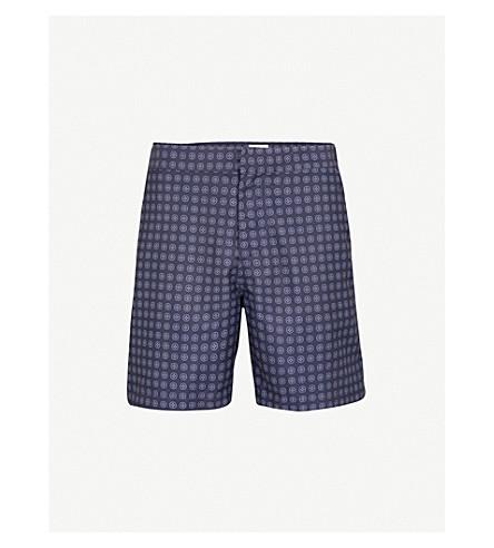 DEREK ROSE Micro Circle Diamond swim shorts (Navy