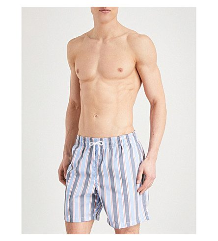 DEREK ROSE Bali striped swim shorts (Blue