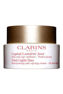 CLARINS Vital Light Day Illuminating Anti–Ageing Cream – All Skin Types