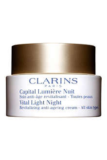 CLARINS Vital Light Night Revitalizing Anti–Ageing Cream – All Skin Types 50ml