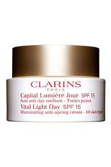 CLARINS Vital Light Day Illuminating Anti–Ageing Cream SPF15 – All Skin Types 50ml