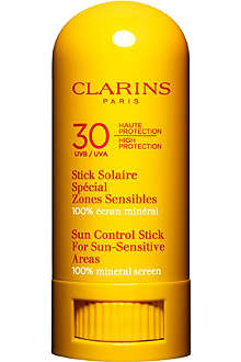 CLARINS Sun Control Stick for sun-sensitive areas UVB/UVA 30 8ml