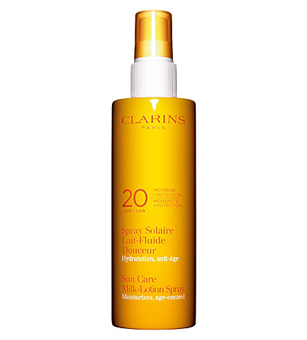 CLARINS Sun Care milk-lotion spray UVA/UVB 20 120ml