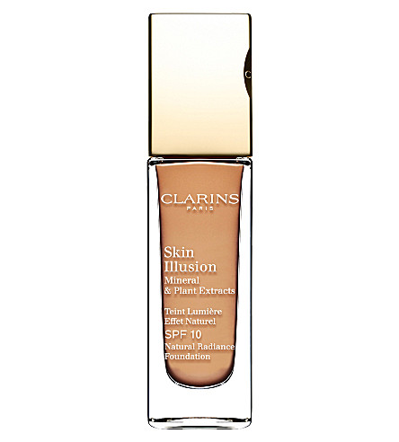 CLARINS Skin Illusion natural radiance foundation SPF 10 (Amber+112
