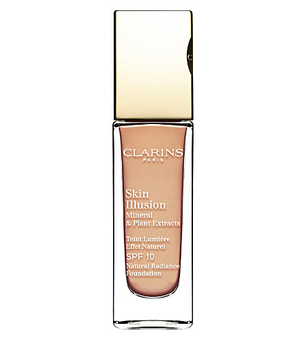 CLARINS Skin Illusion natural radiance foundation SPF 10 (Porcelain 102.5