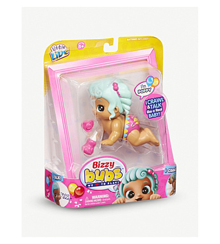 LITTLE LIVE PETS Bizzy Bubs Crawling Baby - Poppy