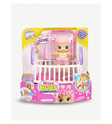 LITTLE LIVE PETS Bizzy Bubs Cute Crib - Gracie