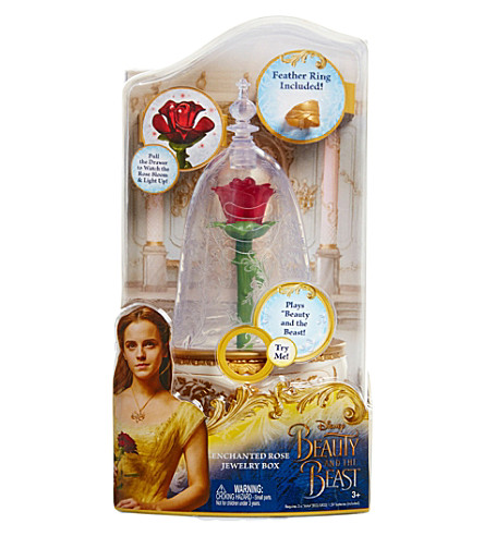 DISNEY PRINCESS Enchanted Rose musical jewellery box