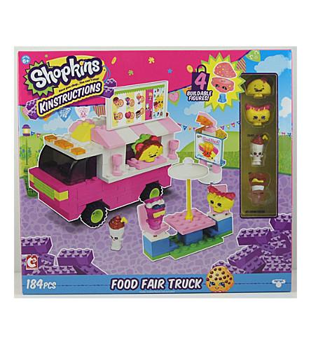 SHOPKINS Kinstructions Food Fair Truck play set