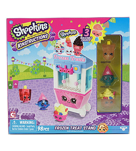 SHOPKINS Kinstructions Frozen Treat Stand play set