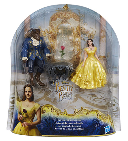 DISNEY PRINCESS Enchanted Rose scene figures