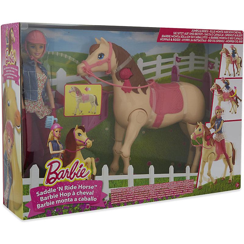 Barbie Saddle and Ride Horse Set