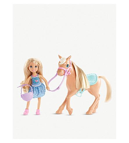 BARBIE Chelsea & pony playset
