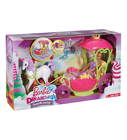 BARBIE Sweetville Kingdom unicorn and carriage playset