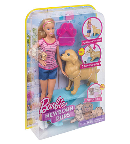 BARBIE Barbie birthing puppies playset