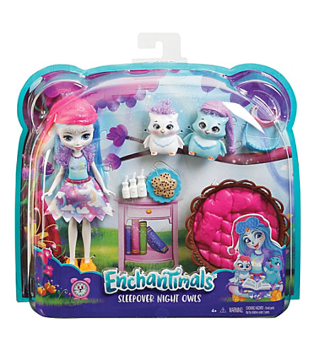 ENCHANTIMALS Sleepover Night Owl doll playset