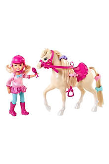 BARBIE Barbie & Her Sisters in A Pony Tale Chelsea doll and pony set