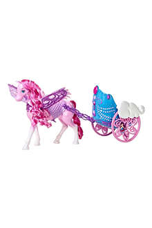 BARBIE Mariposa and the Fairy Princess Pegasus and Flying Chariot play set