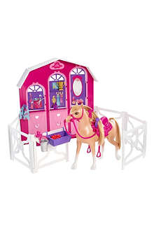 BARBIE Barbie & Her Sisters in A Pony Tale Sister Deluxe Stable playset
