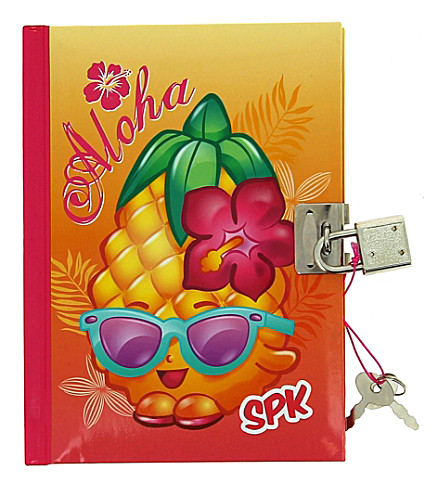 SHOPKINS Aloha lockable diary
