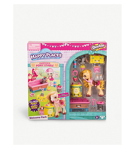 SHOPKINS Happy Places Pampered Pony stable playset