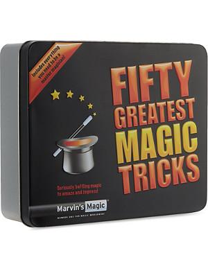 MARVINS MAGIC Fifty Greatest Magic Tricks tin