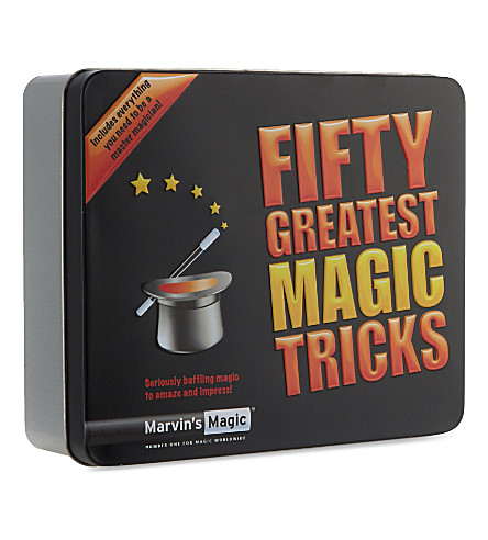 MARVINS MAGIC Fifty Greatest Magic Tricks tin