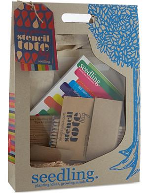 SEEDLING Stencil Art tote bag kit