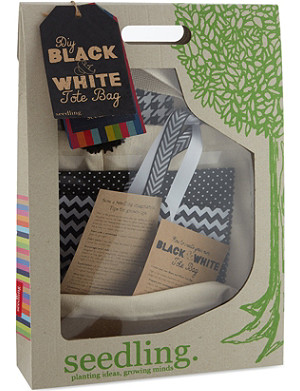 SEEDLING Black and White tote bag kit