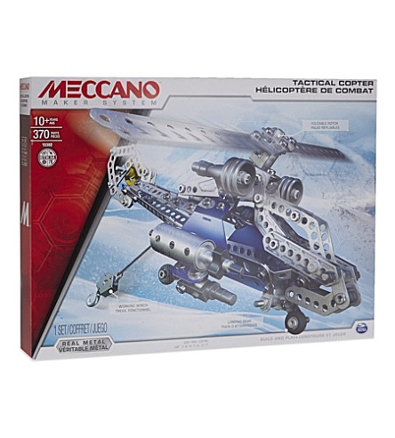 meccano build and play helicopter with Meccano Tactical Copter 2 In 1 356 3001603 6024816 on  in addition Meccano Flight Adventure further Meccano Super Construction Set 25 Motorized Model Building Set 638 Pieces Ages 10 Stem Education Toy also Crane Set Toys likewise Meccano  Eitech  Merkur Meccano.