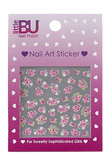 LITTLE BU Rose nail art stickers
