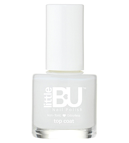 LITTLE BU Top coat nail polish (Clear