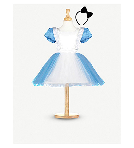 DRESS UP Blue Alice costume with headband 3-5 years (Blue