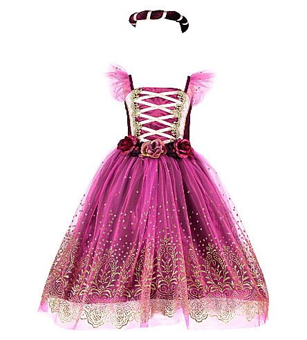 DRESS UP Princess fairy dress up costume set 3-8 years (Plum/gold/pink