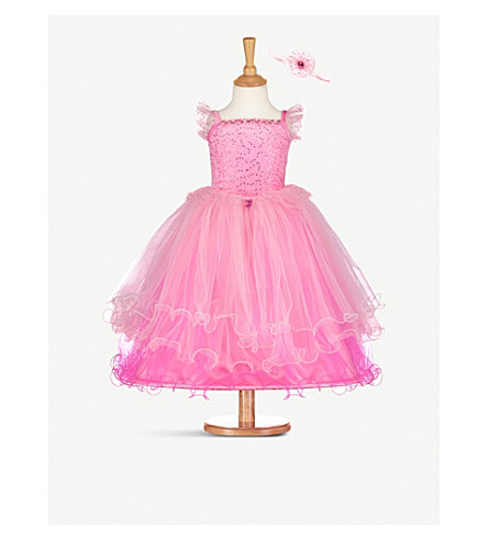 DRESS UP Pink Princess costume and headband 3-5 years (Pink