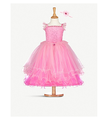 DRESS UP Pink Princess costume and headband 6-8 years (Pink