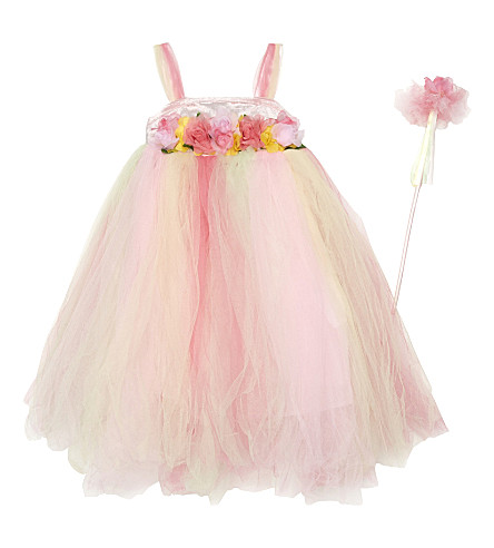 DRESS UP Summer fairy dress & wand 3-5 years (Suf3+3-5