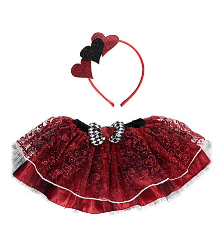 DRESS UP Queen of Hearts tutu costume set S/M (Multi