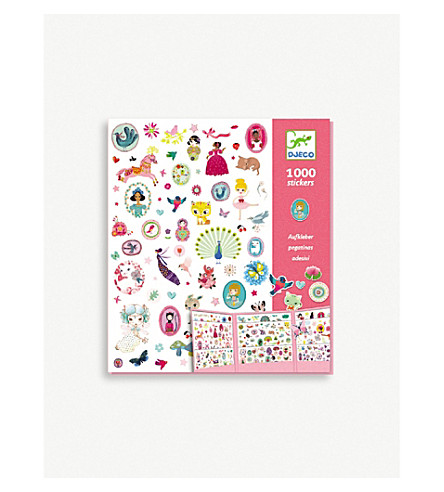 DJECO 1000 stickers for girls set