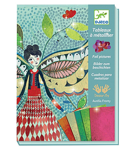DJECO Firefly Fairies foil art kit