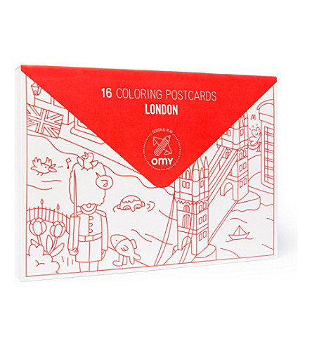 OMY Pack of 16 Londres postcards